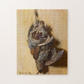 Bella arte de Monet de la perdiz y de la coalla Puzzle Con Fotos