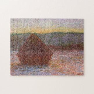 Bella arte de Monet de la puesta del sol del Puzzles