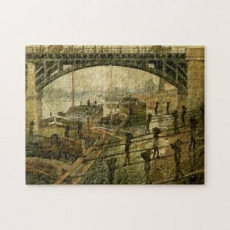 Bella arte de Monet de los estibadores del carbón Rompecabeza