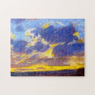 Bella arte de Monet del anochecer Rompecabeza Con Fotos
