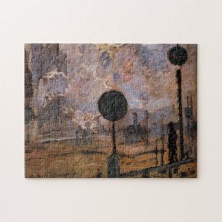 Bella arte de Monet del tren de la llegada de la Puzzle