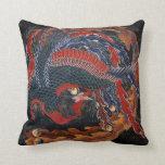 Bella arte de Phoenix (diosa) de Firebird Hokusai Cojín