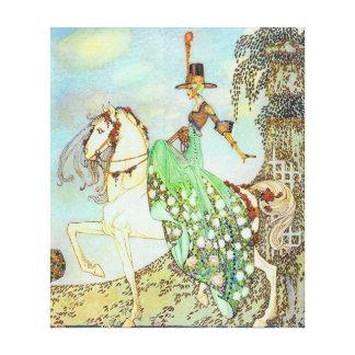 Bella arte de princesa Minon Minette Kay Nielsen Lienzo Envuelto Para Galerias