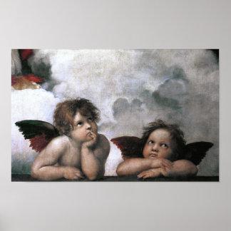 Bella arte de Raphael de la capilla de Sistine de