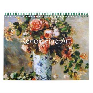 Bella arte de Renoir Calendarios De Pared