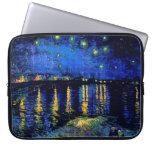 Bella arte de Rhone de la noche estrellada de Van  Fundas Computadoras