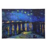 Bella arte de Rhone de la noche estrellada de Van  Manteles Individuales