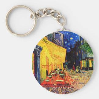 Bella arte de Terrace Place du Forum Van Gogh del Llavero Redondo Tipo Pin