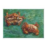 Bella arte de Van Gogh de dos cangrejos (F606) Impresiones En Lona