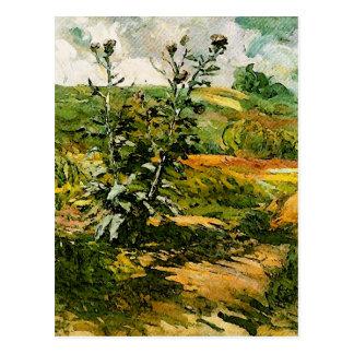 Bella arte de Van Gogh de dos cardos Tarjetas Postales