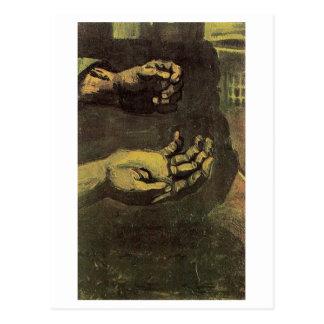 Bella arte de Van Gogh de dos manos (F66) Postal