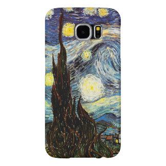Bella arte de Van Gogh de la noche estrellada Fundas Samsung Galaxy S6
