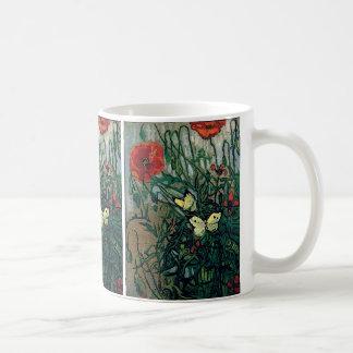 Bella arte de Van Gogh de las amapolas y de las Taza