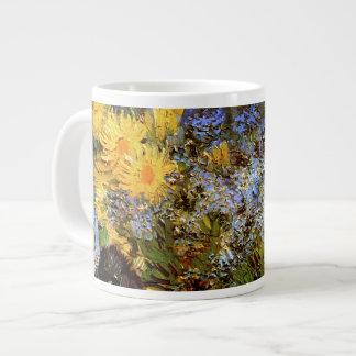 Bella arte de Van Gogh de las margaritas y de las Taza Grande