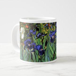 Bella arte de Van Gogh de los iris (F608) Taza Grande