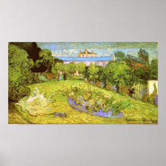 Bella arte de Van Gogh del jardín de Daubigny