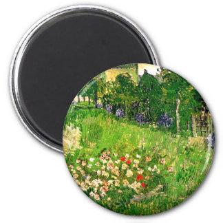 Bella arte de Van Gogh del jardín de Daubigny Imán Redondo 5 Cm
