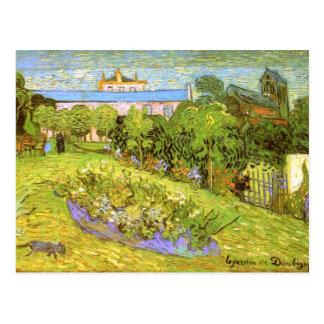 Bella arte de Van Gogh del jardín de Daubigny Postales
