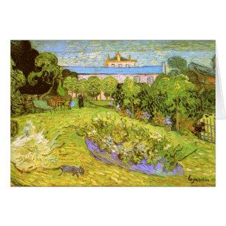 Bella arte de Van Gogh del jardín de Daubigny Tarjeta Pequeña