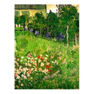 Bella arte de Van Gogh del jardín de Daubigny Tarjeta Postal