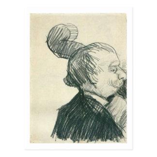 Bella arte de Van Gogh del jugador del Doble-Bajo Postales