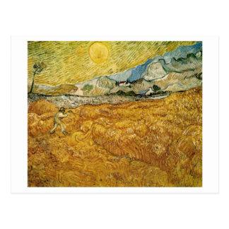 Bella arte de Van Gogh del segador del hospital de Tarjetas Postales