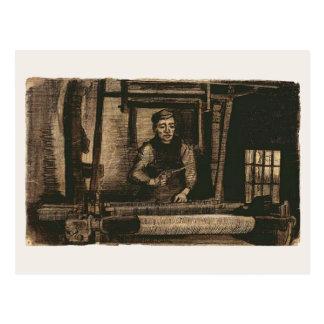 Bella arte de Van Gogh del tejedor (F1116) Tarjeta Postal