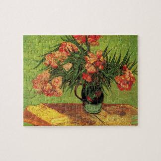 Bella arte de Van Gogh, florero con los Oleanders Puzzles Con Fotos