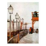 Bella arte de Van Gogh Montmartre (F272) Postal