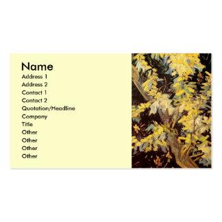 Bella arte de Van Gogh, ramas florecientes del Tarjetas De Visita