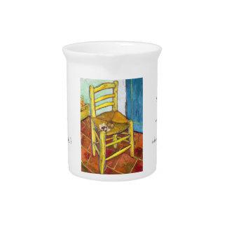 Bella arte de Vincent van Gogh de la silla de Van Jarrón