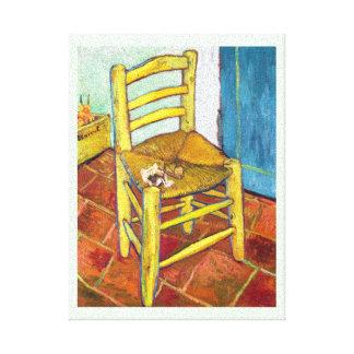 Bella arte de Vincent van Gogh de la silla de Van  Impresión En Lona Estirada