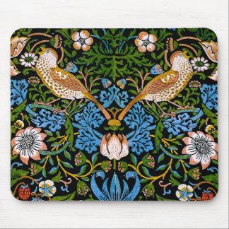 Bella arte de William Morris de los pájaros y de Mousepad