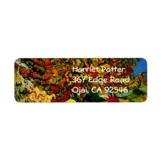 Bella arte del árbol de mora de Van Gogh (F637) Etiquetas De Remite
