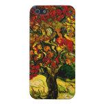 Bella arte del árbol de mora de Van Gogh (F637) iPhone 5 Protectores