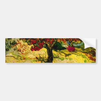 Bella arte del árbol de mora de Van Gogh (F637) Pegatina Para Auto