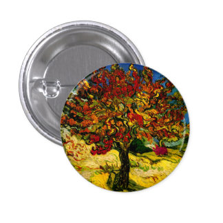 Bella arte del árbol de mora de Van Gogh (F637) Pins