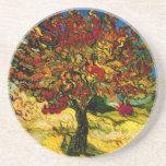Bella arte del árbol de mora de Van Gogh (F637) Posavasos Cerveza