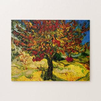 Bella arte del árbol de mora de Van Gogh (F637) Rompecabeza Con Fotos