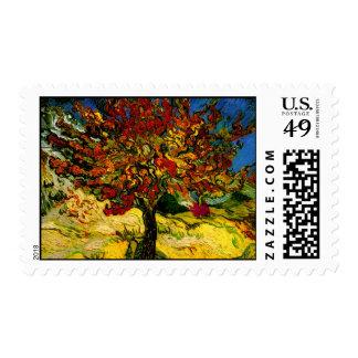 Bella arte del árbol de mora de Van Gogh (F637) Sellos