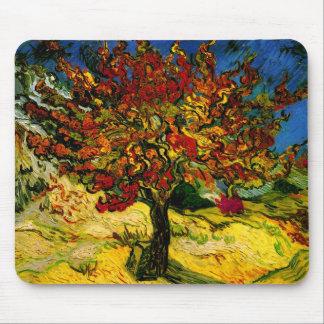 Bella arte del árbol de mora de Van Gogh (F637) Alfombrillas De Raton