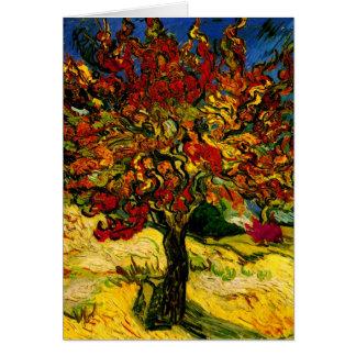Bella arte del árbol de mora de Van Gogh (F637) Tarjeta