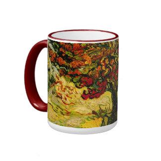 Bella arte del árbol de mora de Van Gogh (F637) Taza A Dos Colores