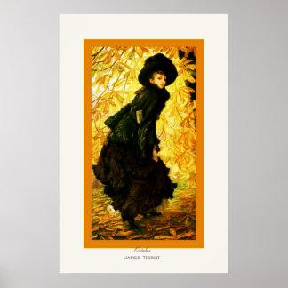 Bella arte del ~ de James Tissot del ~ de octubre Poster