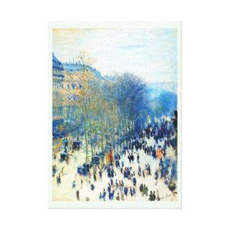 Bella arte del DES Capucines Claude Monet del bule Impresión En Lona Estirada