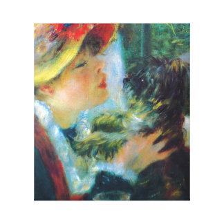 Bella arte del impresionismo de Renoir del chica y Lona Envuelta Para Galerías
