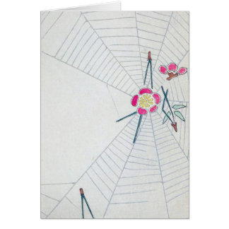 Bella arte del japonés del vintage tarjeta
