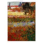 Bella arte del jardín floreciente de Van Gogh (F43 Tarjetón