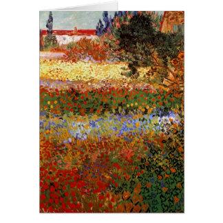 Bella arte del jardín floreciente de Van Gogh F43 Tarjetón