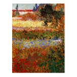 Bella arte del jardín floreciente de Van Gogh (F43 Tarjeta Postal
